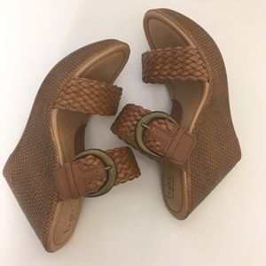 B.o.c Born Concept sandal wedges, tan, brown